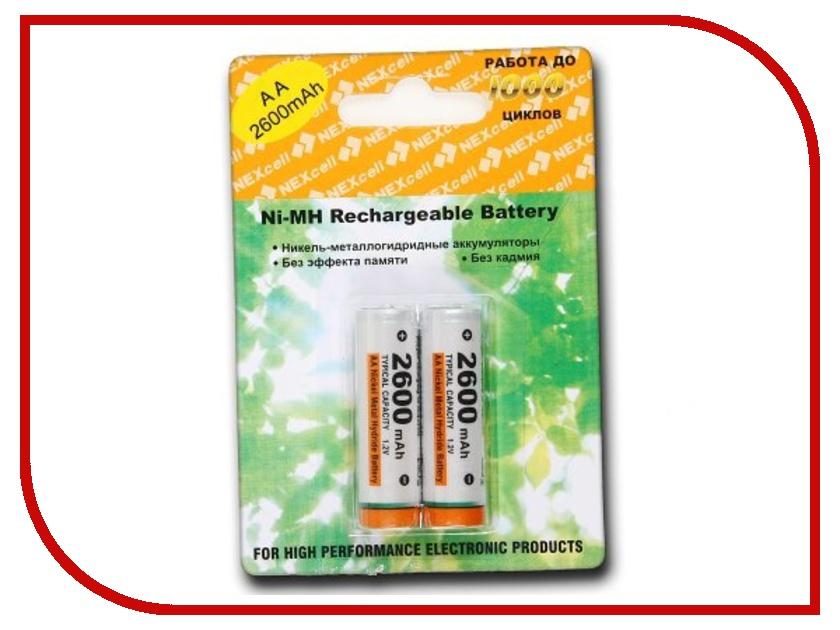 Аккумулятор AA - NEXcell 2600 mAh Ni-MH (2 штуки) AA2600/2pack<br>