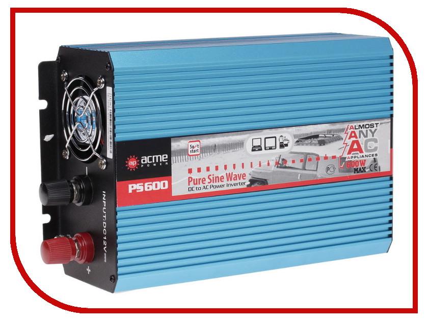Автоинвертор AcmePower AP-PS600/12 (600Вт) с 12В на 220В автоинвертор acmepower ap ps1000 12 1000вт преобразователь с 12в на 220в