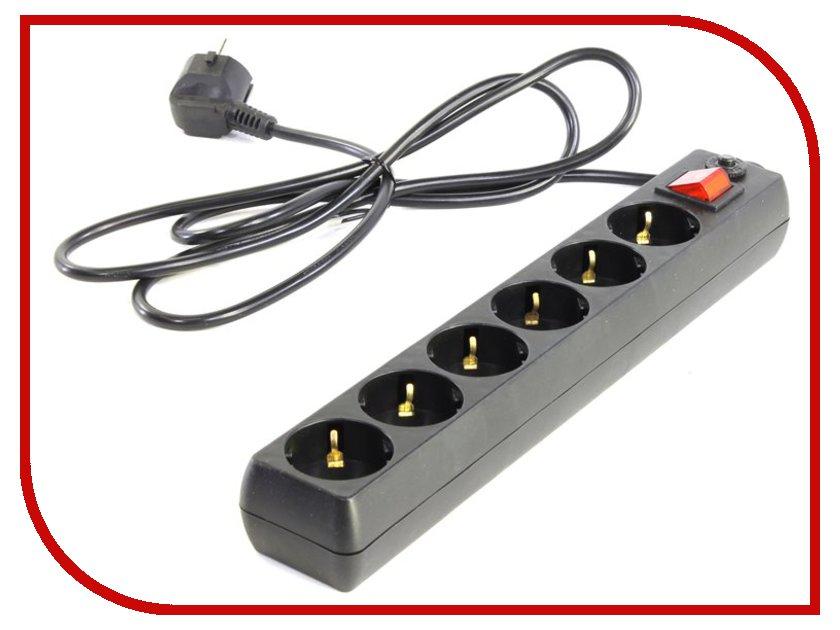 Сетевой фильтр 5bites 6 Sockets 1.8m Black SP6-B-18
