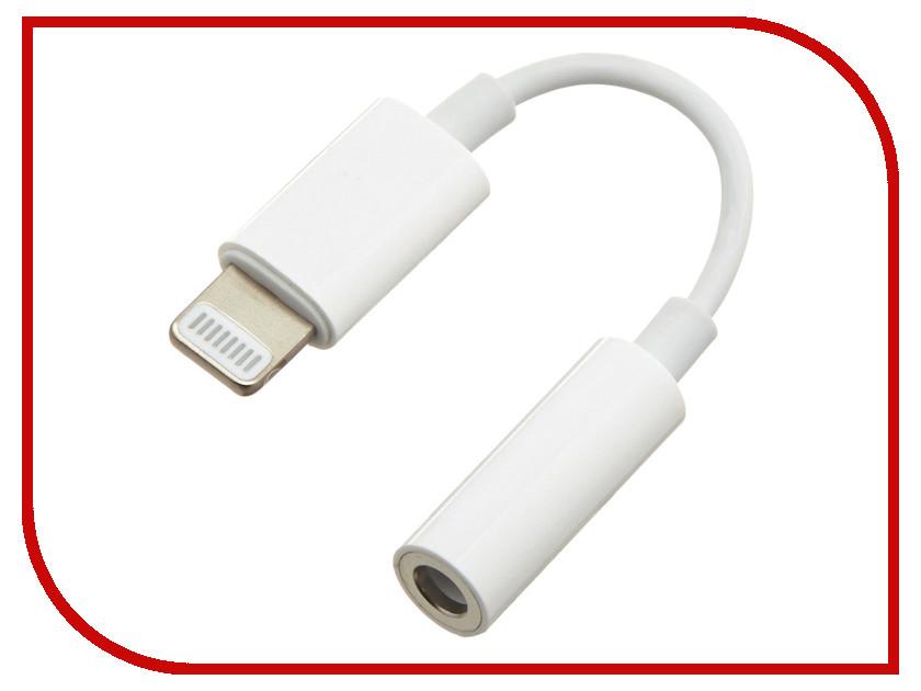 Аксессуар Gembird Cablexpert Lightning - Jack3.5 F White CCA-LM3.5F-01-W кабель телевизионный gembird cablexpert f m 1 8m white ccv 515 w