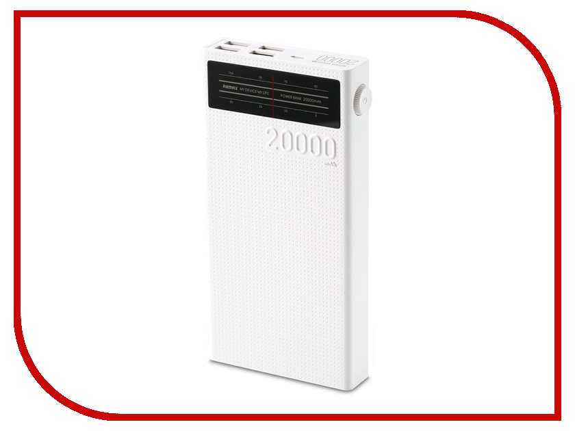 Аккумулятор Remax Radio Series 20000 mAh RPP-102 White аккумулятор nano tech аналог bn 01 1500 mah для nokia x x