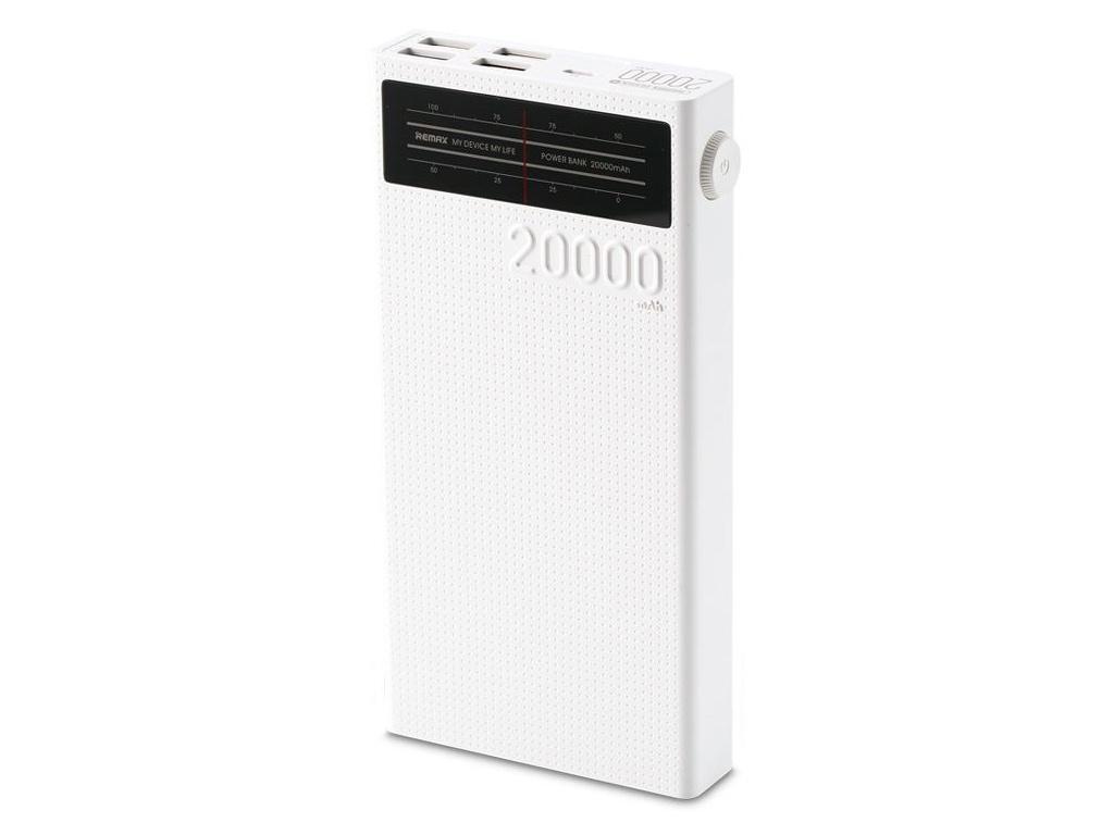Аккумулятор Remax Radio Series 20000 mAh RPP-102 White аккумулятор внешний remax flinc rpp 72
