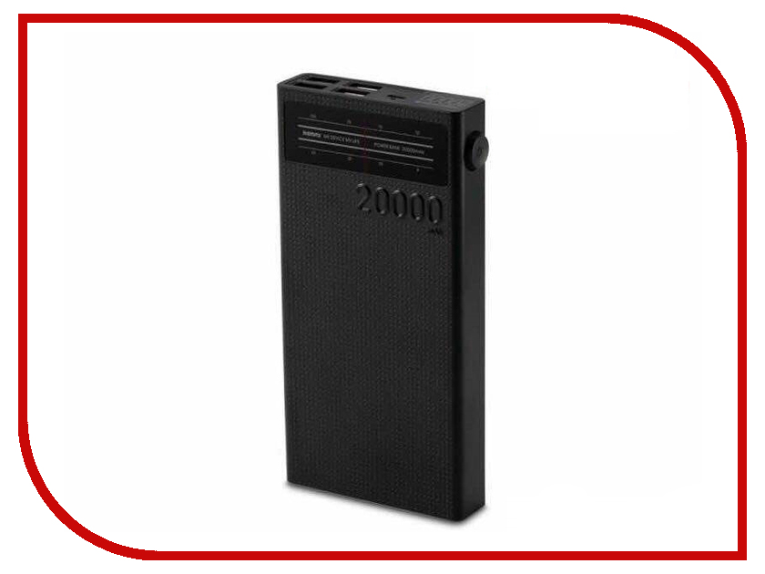 Аккумулятор Remax Radio Series 20000 mAh RPP-102 Black аккумулятор nano tech аналог bn 01 1500 mah для nokia x x