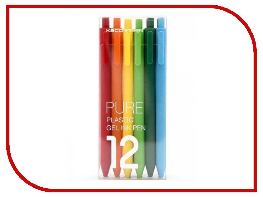 Набор гелевых ручек Xiaomi Pure Plastic Gelic Pen 12шт xiaomi mijia sign pen 0 5mm roller pen with 3 refill