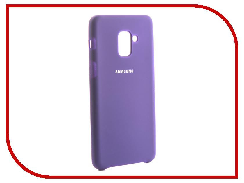 Аксессуар Чехол для Samsung Galaxy A8 Plus 2018 Innovation Silicone Purple 13569 цена и фото