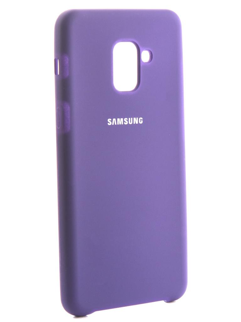 Чехол Innovation для Samsung Galaxy A8 Plus 2018 Silicone Purple 13569 фото