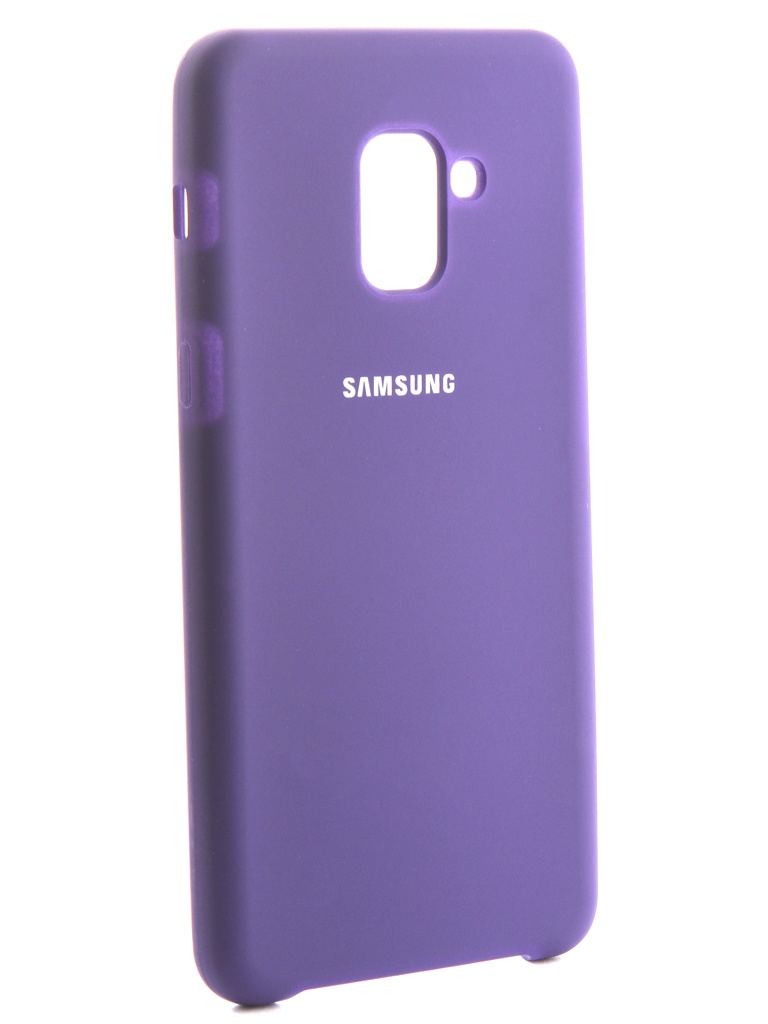 Аксессуар Чехол Innovation для Samsung Galaxy A8 Plus 2018 Silicone Purple 13569