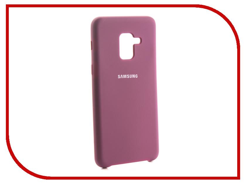 Аксессуар Чехол для Samsung Galaxy A8 2018 Innovation Silicone Purple 13568 цена и фото