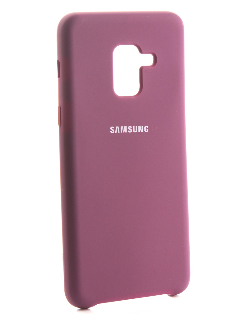 Аксессуар Чехол Innovation для Samsung Galaxy A8 2018 Silicone Purple 13568