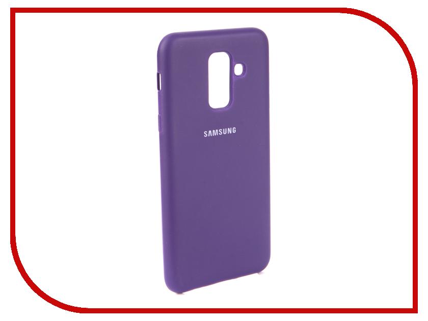 Аксессуар Чехол для Samsung Galaxy A6 Plus 2018 Innovation Silicone Purple 13567