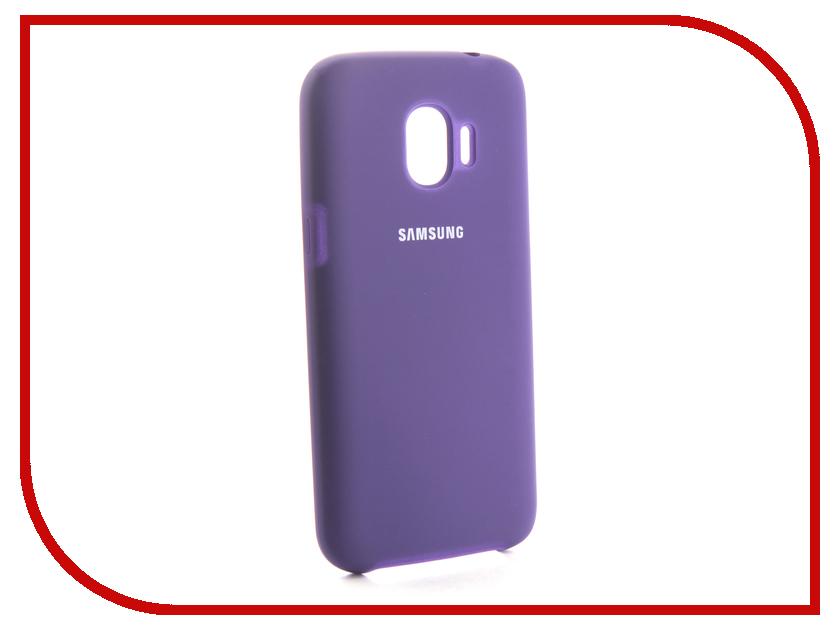 Аксессуар Чехол для Samsung Galaxy J2 2018 Innovation Silicone Purple 13492 аксессуар чехол samsung j3 2017 j330f zibelino clear view black zcv sam j330 blk