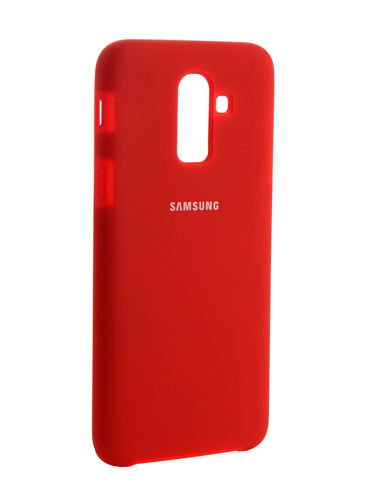 Аксессуар Чехол Innovation для Samsung Galaxy J8 2018 Silicone Red 13488