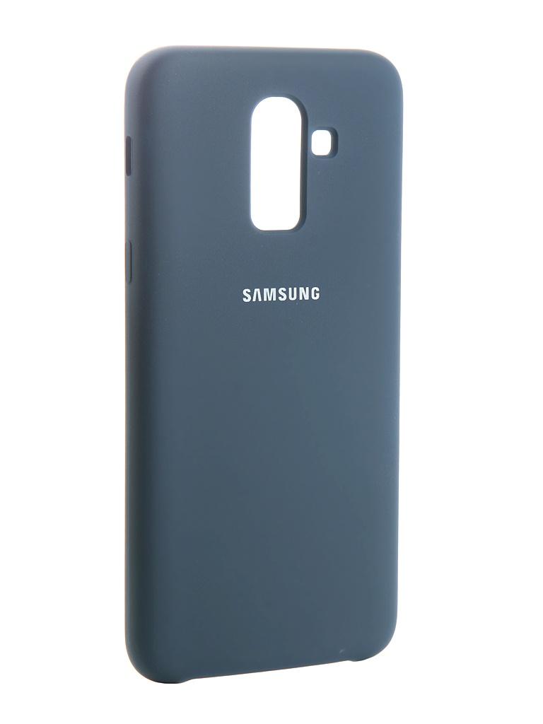 Аксессуар Чехол Innovation для Samsung Galaxy J8 2018 Silicone Blue 13486
