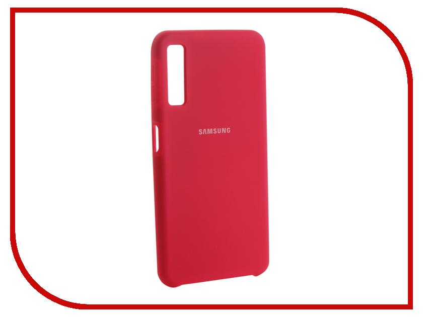 Аксессуар Чехол для Samsung Galaxy A7 2018 Innovation Silicone Pink 13479