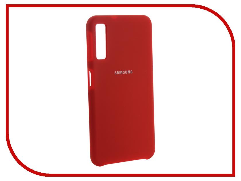 Аксессуар Чехол для Samsung Galaxy A7 2018 Innovation Silicone Red 13478