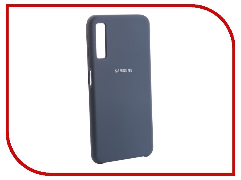 Аксессуар Чехол для Samsung Galaxy A7 2018 Innovation Silicone Blue 13477 постельное белье eвро славянский текстиль stylе jamaica сатин 2 нав 50х70см арт 249045 7097