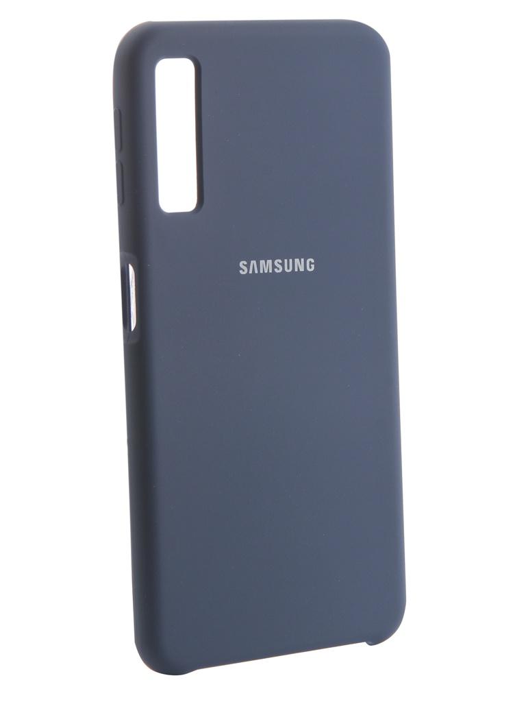 Аксессуар Чехол Innovation для Samsung Galaxy A7 2018 Silicone Blue 13477 аксессуар чехол для samsung galaxy note 9 innovation silicone blue 12645