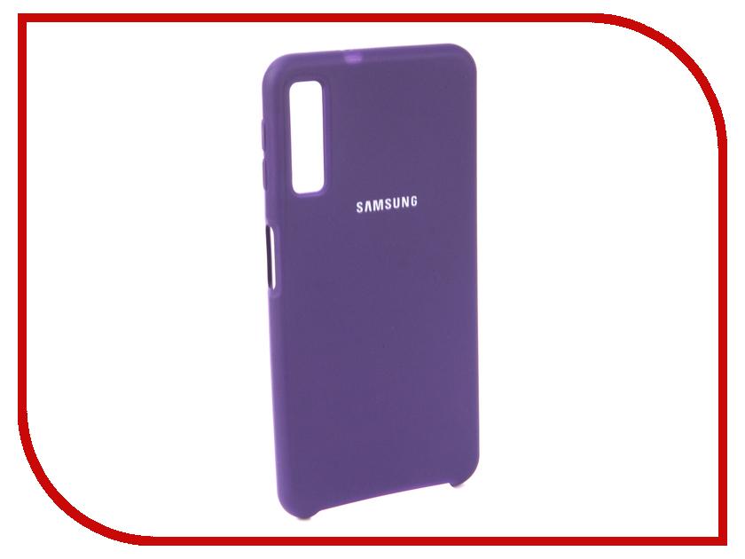 Аксессуар Чехол для Samsung Galaxy A7 2018 Innovation Silicone Purple 13476