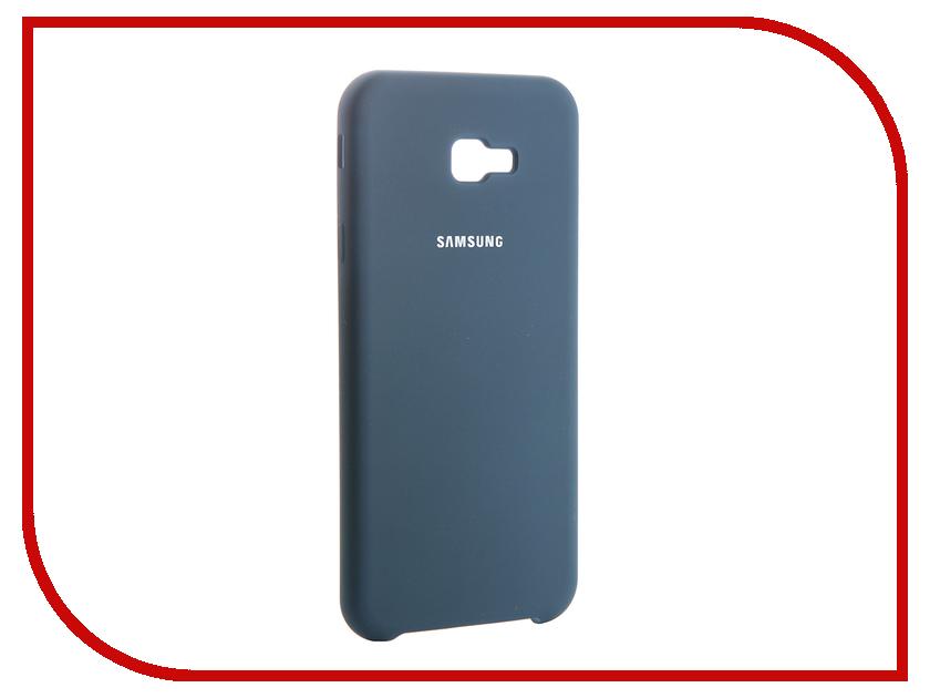 Аксессуар Чехол для Samsung Galaxy J4 Plus 2018 Innovation Silicone Blue 13466 blue flower design кожа pu откидной крышки кошелек карты держатель чехол для samsung j5prime
