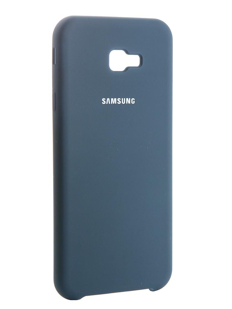 Аксессуар Чехол Innovation для Samsung Galaxy J4 Plus 2018 Silicone Blue 13466 аксессуар чехол innovation для samsung galaxy a6 plus 2018 silicone blue 12630