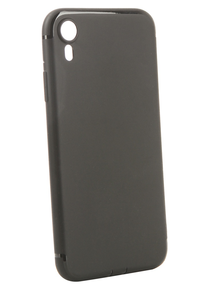 Аксессуар Чехол Innovation для APPLE iPhone XR Matte Black 13318 аксессуар чехол innovation для apple iphone 11 pro max silicone case crimson 16445