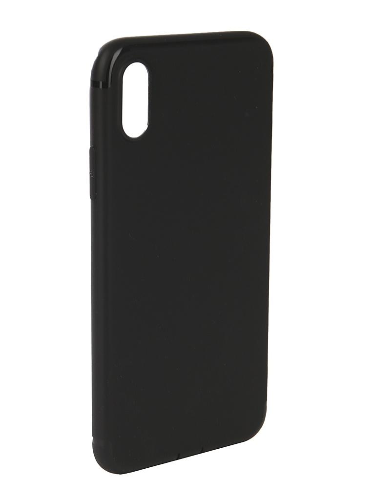 Аксессуар Чехол Innovation для APPLE iPhone X Matte Black 13316 аксессуар чехол innovation ferrari для apple iphone x black