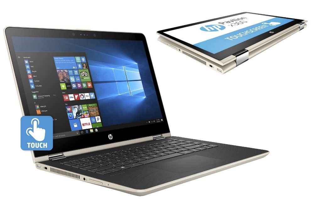 Ноутбук HP Pavilion x360 14-ba021ur 1ZC90EA (Intel Core i5-7200U 2.5 GHz/6144Mb/1000Gb+128Gb SSD/nVidia GeForce GT 940MX 2048Mb/Wi-Fi/Bluetooth/Cam/14.0/1920x1080/Touchscreen/Windows 10 Home 64-bit)