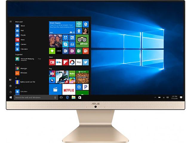 Моноблок ASUS V222GBK-BA020T Black 90PT0221-M00300 (Intel Celeron J4005 2.0 GHz/4096Mb/500Gb/NVIDIA GeForce MX110 2048Mb/Wi-Fi/Cam/21.5/1920x1080/Windows 10)