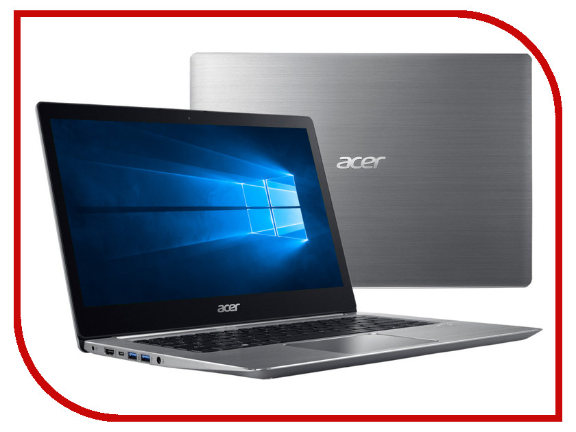 Ноутбук Acer Swift 3 SF314-52-502T Silver NX.GNUER.002 (Intel Core i5-7200U 2.5 GHz/8192Mb/256Gb SSD/No ODD/Intel HD Graphics/Wi-Fi/Bluetooth/Cam/14.0/1920x1080/Windows 10 64-bit) моноблок lenovo ideacentre aio 520 24iku ms silver f0d2003urk intel core i5 7200u 2 5 ghz 8192mb 1000gb dvd rw intel hd graphics wi fi bluetooth cam 23 8 1920x1080 dos