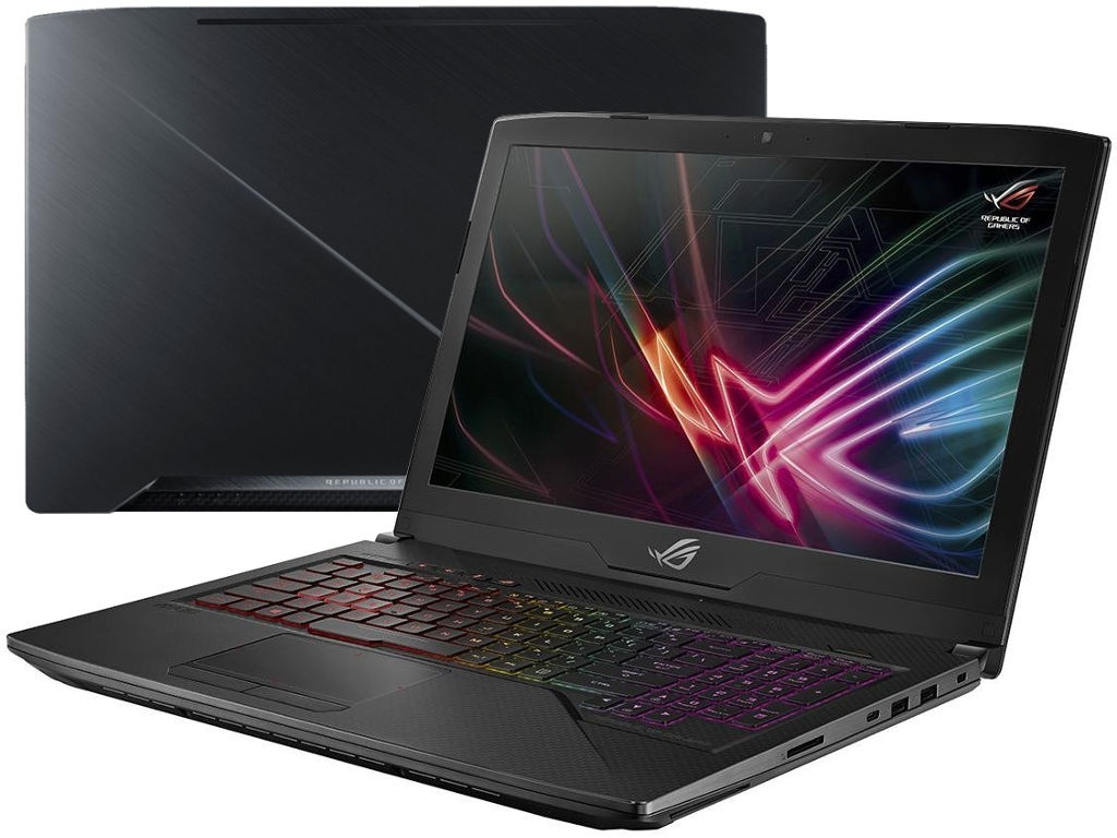 Ноутбук ASUS ROG GL503GE-EN272T 90NR0081-M05460 (Intel Core i5-8300H 2.3 GHz/8192Mb/1000Gb+256Gb SSD/nVidia GeForce GTX 1050Ti 4096Mb/Wi-Fi/Bluetooth/Cam/15.6/1920x1080/Windows 10 Home 64-bit)
