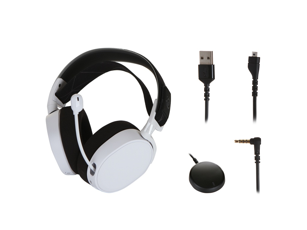 SteelSeries Arctis 7 2019 Edition White-Black 61508 steelseries arctis 7 2019 edition black