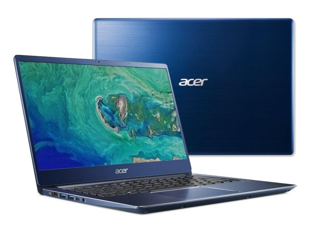 цена на Ноутбук Acer Swift 3 SF314-54-84NS Blue NX.GYGER.001 (Intel Core i7-8550U 1.8 GHz/8192Mb/256Gb SSD/No ODD/Intel HD Graphics/Wi-Fi/Bluetooth/Cam/14.0/1920x1080/Linux)