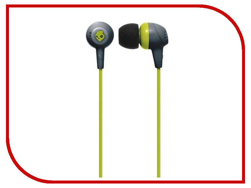 Skullcandy Jib In-Ear W/O Mic Gray-HotLime-HotLime S2DUFZ-385 kz zst wired in ear headset with mic black