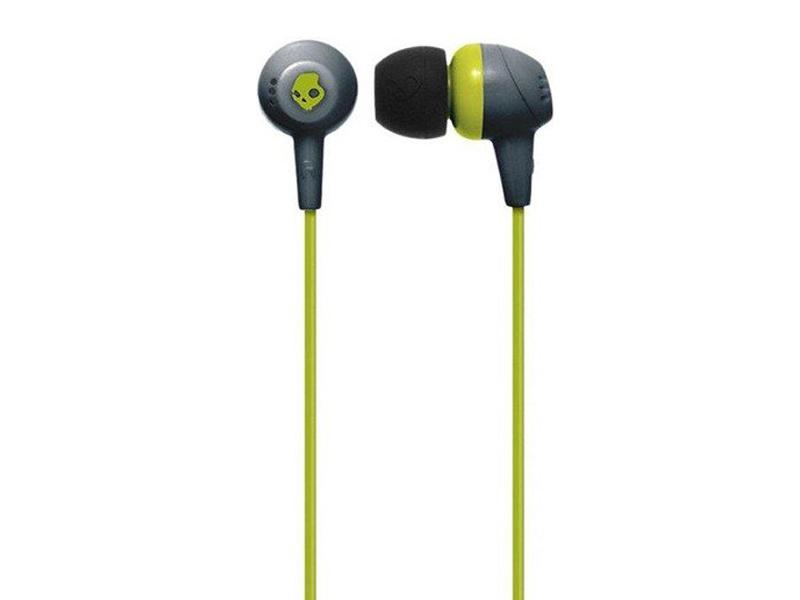 Наушники Skullcandy Jib In-Ear W/O Mic Gray-HotLime-HotLime S2DUFZ-385