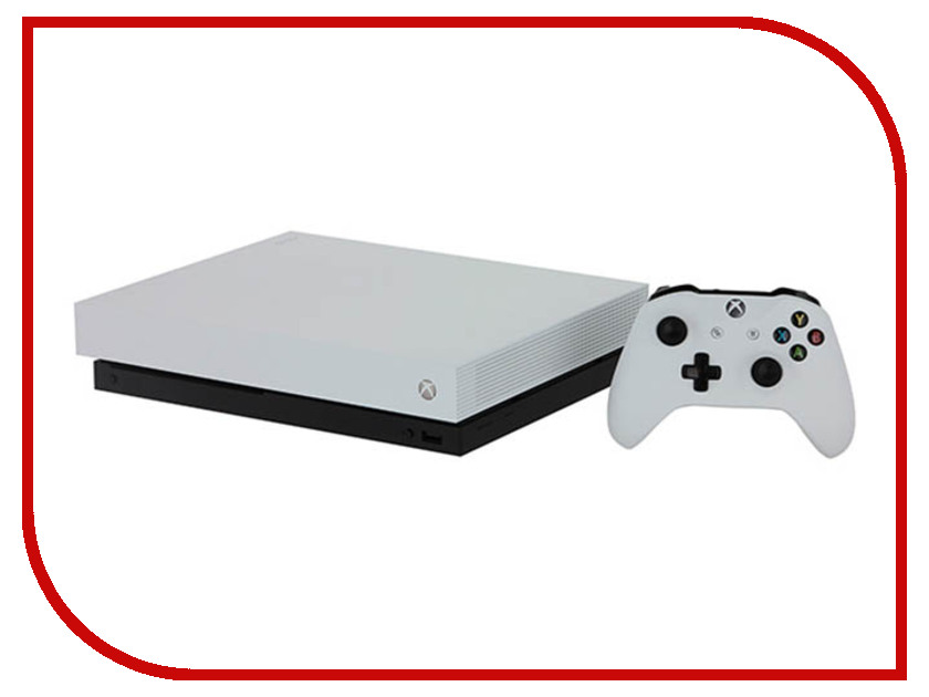 Игровая приставка Microsoft Xbox One X 1Tb White FMP-00058 + Fallout 76 лонгслив printio xbox one
