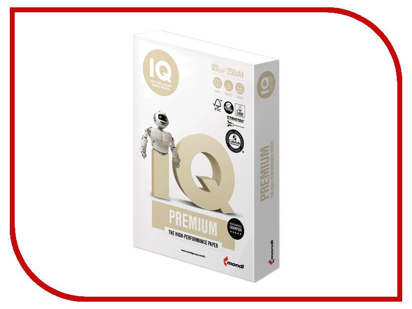 Бумага IQ Premium A4 120g/m2 250 листов A+ 170% CIE 110748 бумага iq color a4 80g m2 500 листов pastel dark cream sa24 110787
