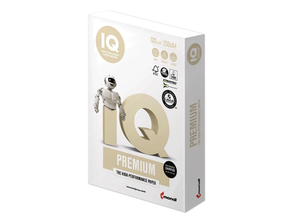 Бумага IQ Premium A4 120g/m2 250 листов A+ 170% CIE 110748