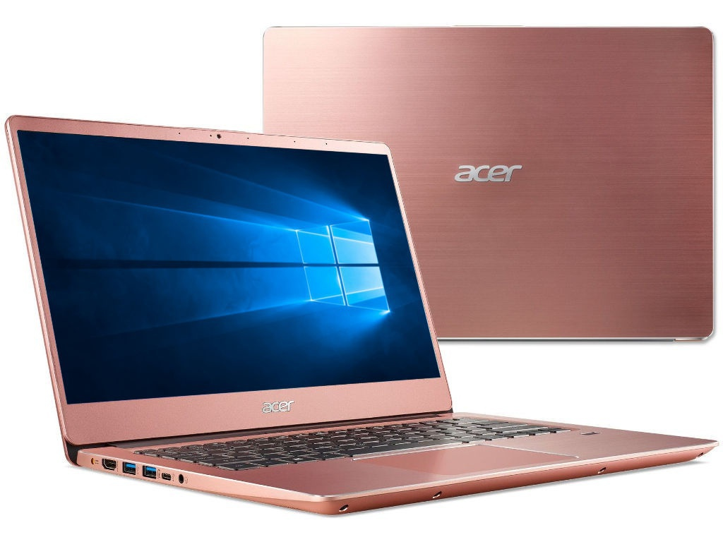 Ноутбук Acer Swift SF314-56G-7285 Pink NX.H4ZER.005 (Intel Core i7-8565U 1.8 GHz/8192Mb/256Gb SSD/nVidia GeForce MX150 2048Mb/Wi-Fi/Bluetooth/Cam/14.0/1920x1080/Windows 10 Home 64-bit) цена