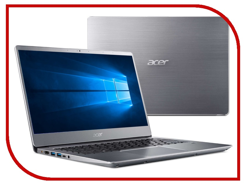 Ноутбук Acer Swift SF314-56G-78TV Silver NX.H4LER.005 (Intel Core i7-8565U 1.8 GHz/8192Mb/256Gb SSD/nVidia GeForce MX150 2048Mb/Wi-Fi/Bluetooth/Cam/14.0/1920x1080/Windows 10 Home 64-bit) цена
