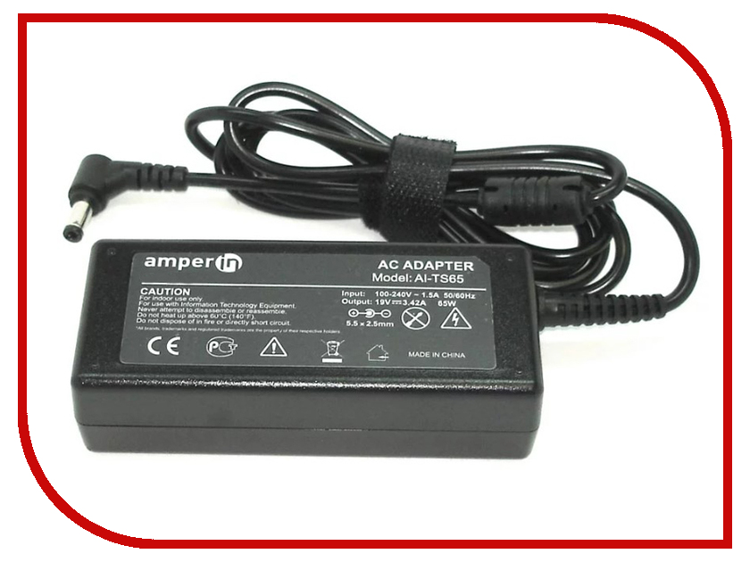 Блок питания Amperin AI-TS65 для Toshiba 19V 3.42A 5.5x2.5mm 65W 45w 19v ac power adapter charger for toshiba satellite c55 a5281 new genuine []