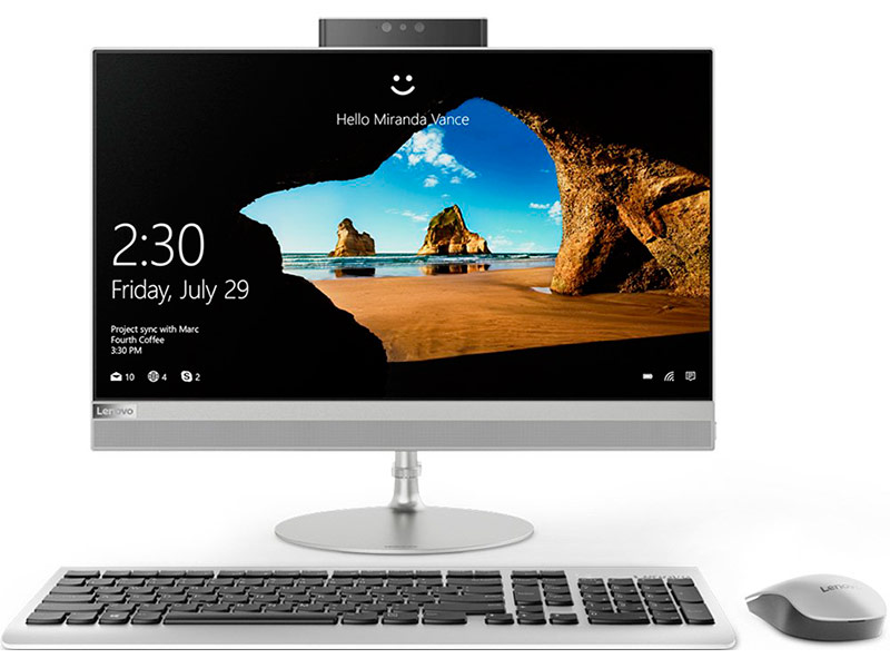 Моноблок Lenovo IdeaCentre 520-22IKU F0D500B8RK (Intel Core i5-8250U 1.6 GHz/4096Mb/1Tb/HD Graphics 620/Wi-Fi/Bluetooth/Cam/21.5/1920x1080/No OS)