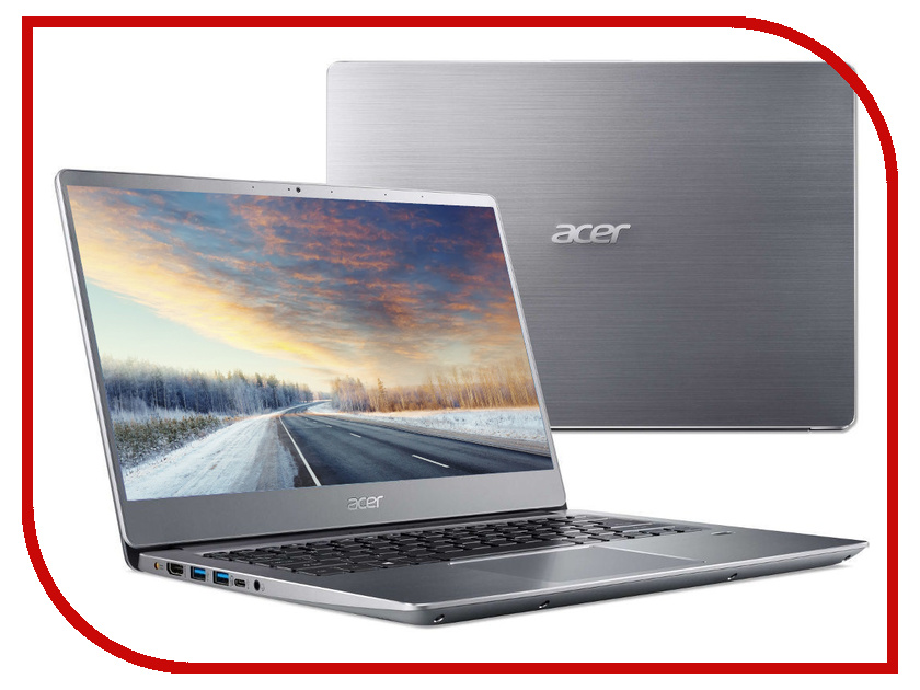 Ноутбук Acer Swift SF314-56G-72E4 Silver NX.H4LER.002 (Intel Core i7-8565U 1.8 GHz/8192Mb/256Gb SSD/nVidia GeForce MX150 2048Mb/Wi-Fi/Bluetooth/Cam/14.0/1920x1080/Linux) цена