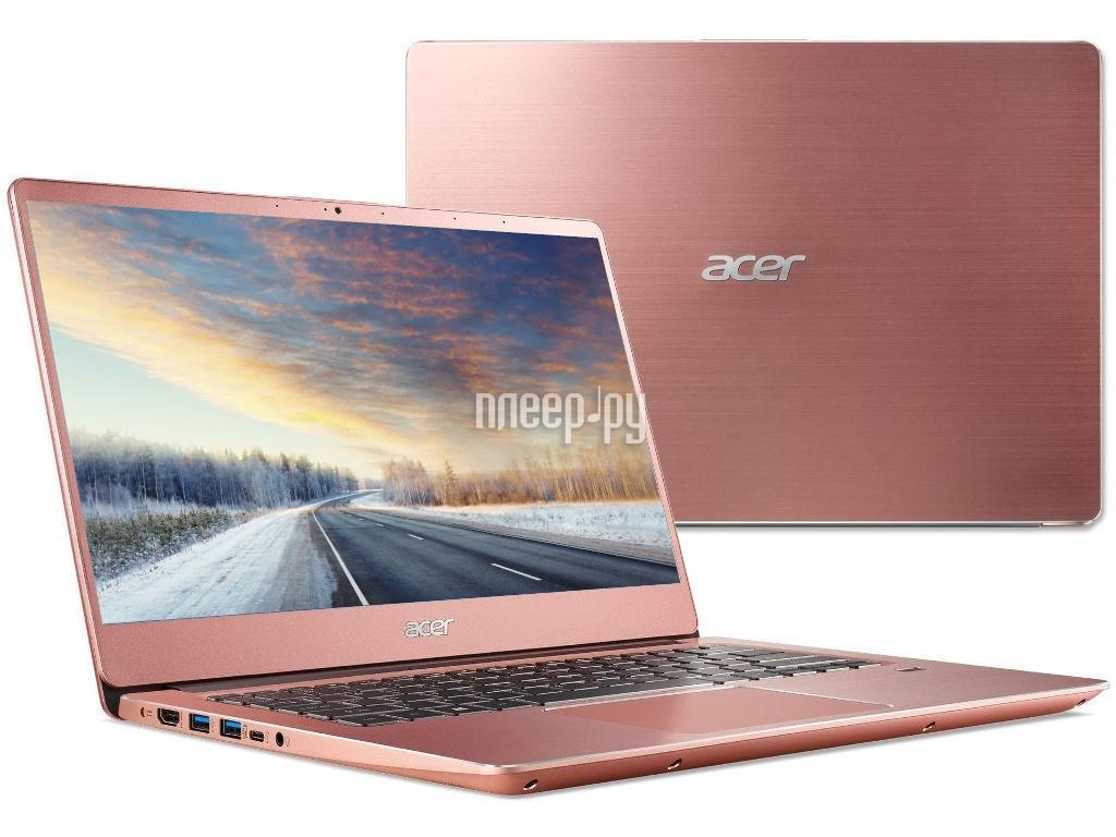 Ноутбук Acer Swift SF314-56-59B5 Pink NX.H4GER.002 (Intel Core i5-8265U 1.6 GHz/8192Mb/256Gb SSD/Intel HD Graphics/Wi-Fi/Bluetooth/Cam/14.0/1920x1080/Linux) цена