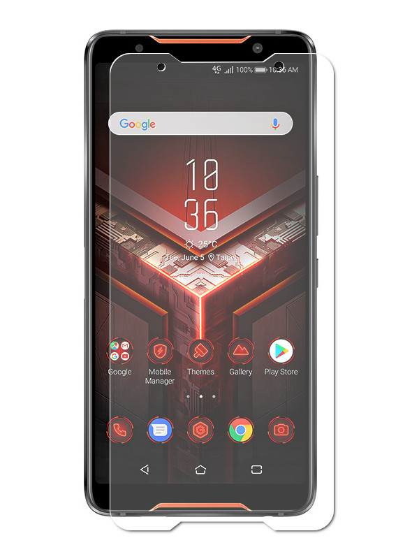 все цены на Аксессуар Защитная пленка LuxCase для ASUS ROG Phone ZS600KL на весь экран Transparent 89190 онлайн