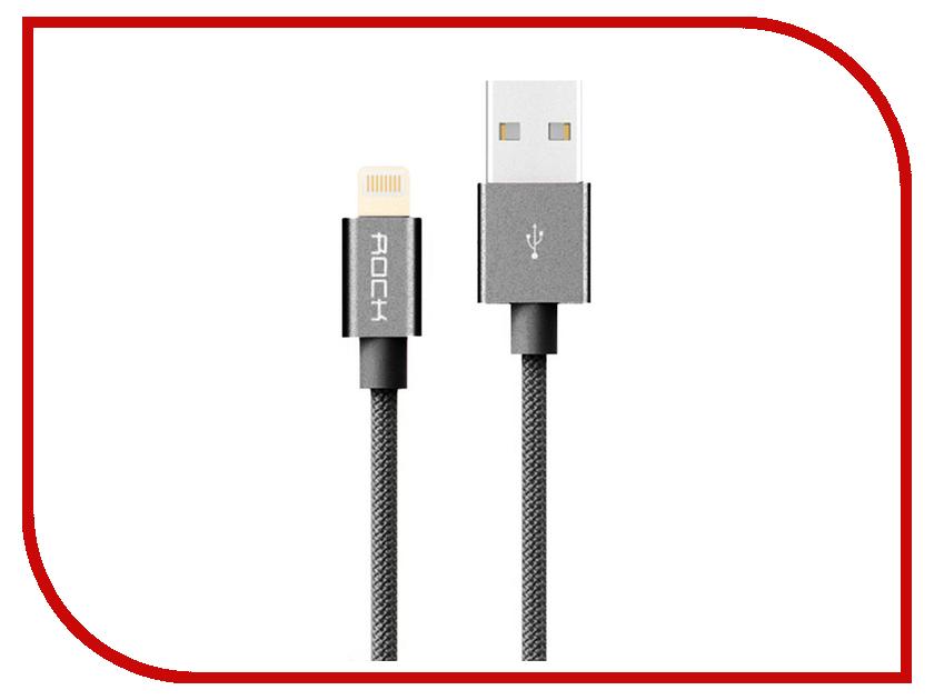 Аксессуар Rock Lightning Metal Charge & Sync Round Cable Space Grey аксессуар usams us sj049 lightning micro usb 2 0 f metal grey