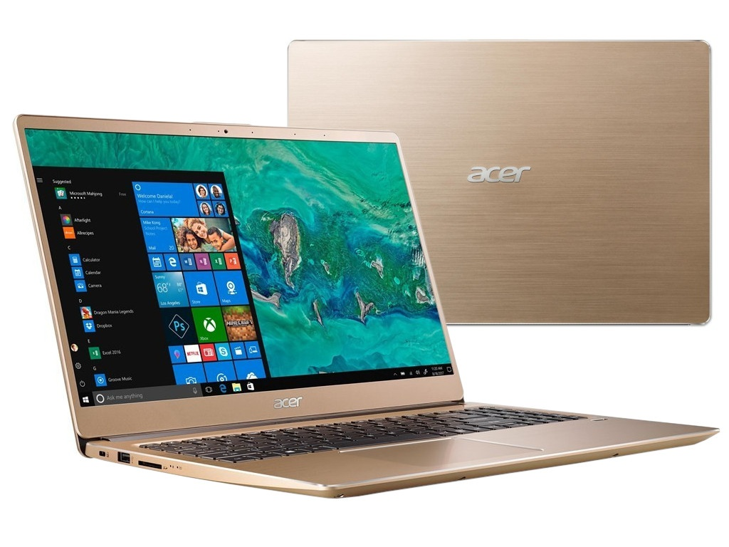Ноутбук Acer Swift 3 SF315-52G-52B4 Gold NX.GZCER.002 (Intel Core i5-8250U 1.6 GHz/8192Mb/256Gb SSD/nVidia GeForce MX150 2048Mb/Wi-Fi/Bluetooth/Cam/15.6/1920x1080/Windows 10 Home 64-bit) цена в Москве и Питере