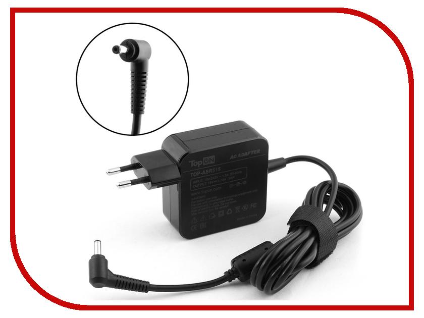 Блок питания TopON TOP-ASR515 19V 1.75A 4.0x1.35mm 33W для ASUS X453MA/X553MA/R515/F202/VivoBook X201/Taichi 21-DH71 Series адаптер питания topon top ac09 19v