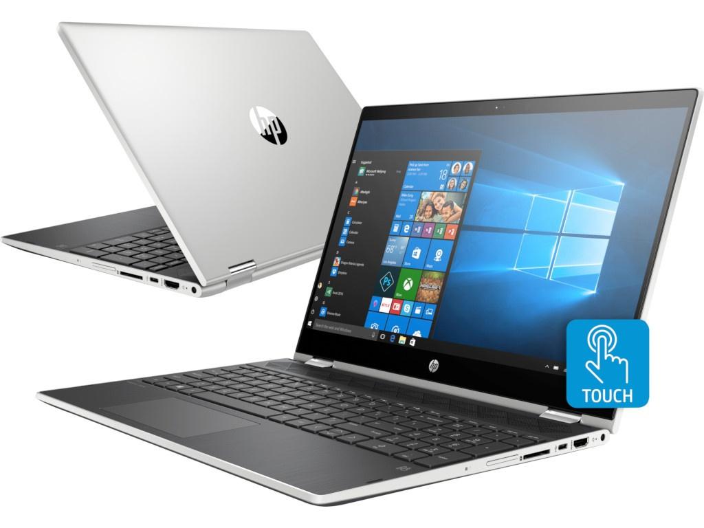 купить Ноутбук HP Pavilion x360 15-cr0000ur Mineral Silver 4GY31EA (Intel Pentium 4415U 2.3 GHz/4096Mb/1000Gb/Intel HD Graphics/Wi-Fi/Bluetooth/Cam/15.6/1920x1080/Touchscreen/Windows 10 Home 64-bit) по цене 35341 рублей