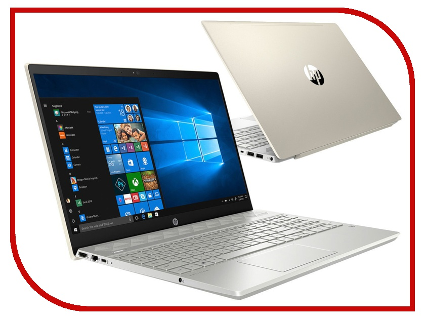 Ноутбук HP Pavilion 15-cs0046ur Pale Gold 4MK85EA (Intel Core i3-8130U 2.2 GHz/4096Mb/256Gb SSD/Intel HD Graphics/Wi-Fi/Bluetooth/Cam/15.6/1920x1080/Windows 10 Home 64-bit) цена