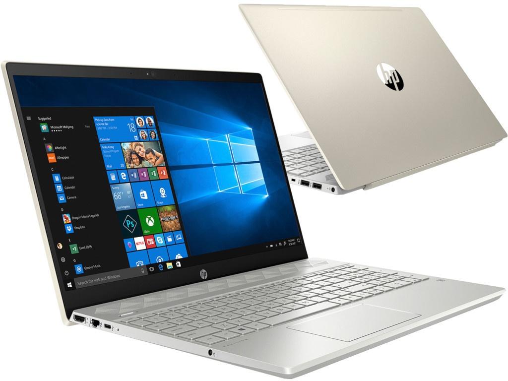 купить Ноутбук HP Pavilion 15-cs1002ur Pale Gold 5CT78EA (Intel Core i7-8565U 1.8 GHz/16384Mb/1000Gb+256Gb SSD/nVidia GeForce MX150 4096Mb/Wi-Fi/Bluetooth/Cam/15.6/1920x1080/Windows 10 Home 64-bit) по цене 80684 рублей